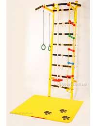 Шведская стенка для детей Дубок + детский спортивный мат